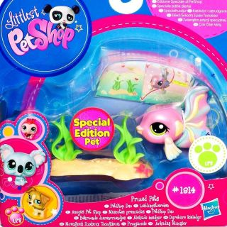 Littlest Pet Shop LPS Prized Pets Guppy Fish Special Edition 1814 New