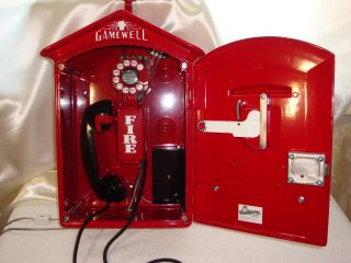Gamewell Fire Alarm Call Box Telephone Phone Police Forestry Old