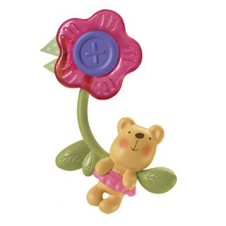 Fisher Price Baby Little Buttons Teether Pink Flower Teether Baby Toys
