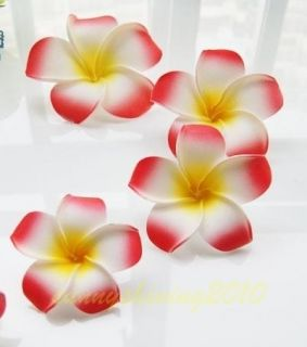 Red Fabulous Hawaiian foam frangipani flowers wedding party decor 8CM