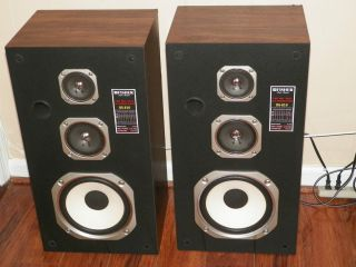 Pair of Vintage Fisher Speakers Model Part DS810