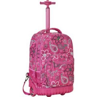 Accessories Rockland Luggage Sedan 19 Rolling Backpack Pink Pearl