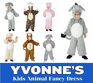 Childrens Zoo Jungle Farm Animal Boys Girls Fancy Dress Childs Costume