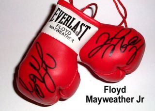 Autographed Mini Boxing Gloves Floyd MAYWEATHER Jr