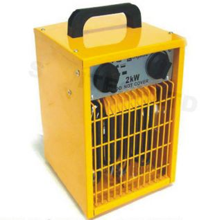 PORTABLE INDUSTRIAL ELECTRICAL THERMOSTAT FAN HEATER WORK SHOP GARAGE