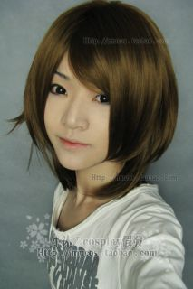 Hot Sell Final Fantasy FF Yuna Short Cosplay Light Brown Wig W118