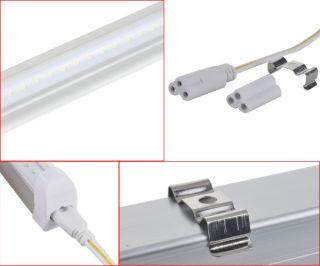 White SMD LED Light Tube Bar  20W Fluorescent Lamp 85 265V + Socket