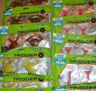 of 20 Rapala Trigger X Saltwater Crab/ Shrimp Fishing Worms Lures! NEW