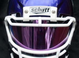 Blue Mirrored Football Visor Insert Fits Nike Eyeshield