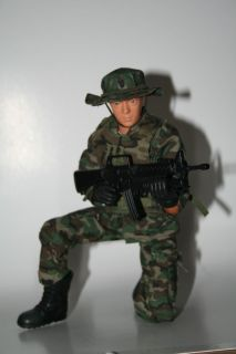 """12"""" Military Action Figure with Accessories Police Military Green"""