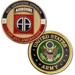 US Army Fort Bragg 82nd Airborne Div Challenge Coin