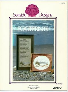 Seaside Designs Footprints Counted Cross Stitch Leaflet