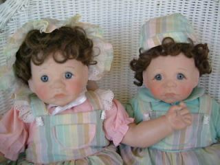 Lee Middleton First Moments Twins Dolls  Must See