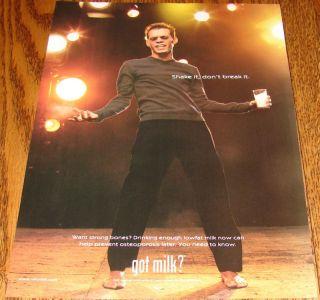 Got Milk Print Ad Marc Anthony 2000 Pinup Bare Feet