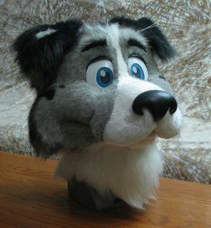 Border Collie dog Fursuit Costume   Fizz   Handmade furry mascot with