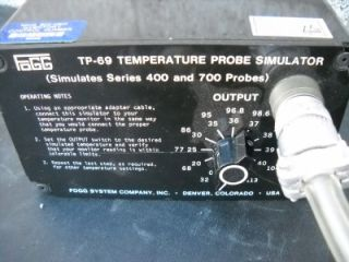 Fogg TP 69 Temperature Probe Simulator (Simulates Series 400 And 700