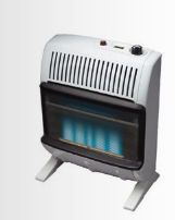 Glo Warm 503282 20 000 BTU HR Vent Free Blue Flame Heater