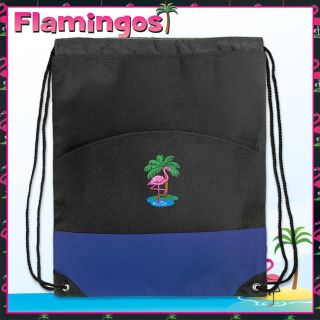Cute Flamingo String Backpacks Drawstring Bags Flamingo
