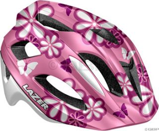 lazer p nut youth helmet pink flower one size