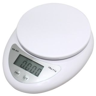 Compact 5kg 11lbs x 1g Digital Kitchen Weight Scale Diet Food