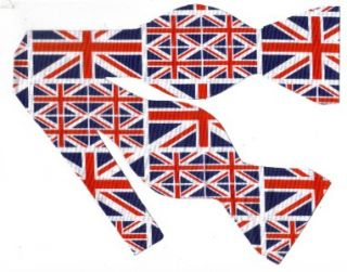 Self Tie Bow Tie Cool Britannia Union Jacks Red White Blue