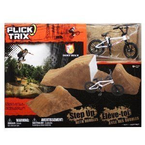 Flick Trix s M Dirt Bike White Dirt Jumps Combo Set