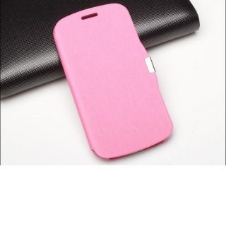 Pink Leather Flip Book Case Cover for Samsung Galaxy S3 III i9300 Free