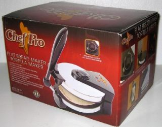 CHEF PRO FLAT BREAD AND TORTILLA MAKER Press Electric Cooker Flatbread