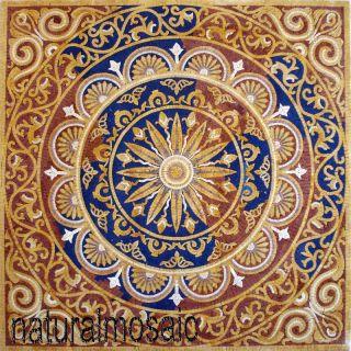 Mosaic Square Pattern Tile Art Stone Floor Tabletop Home Decore