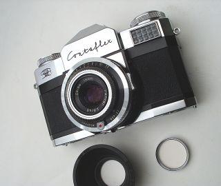 Ikon Contaflex Prima 2 8 50mm Lens Working Cond Hood Case Nice