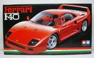 24077 1/24 Scale Model Sport Car Kit Ferrari F40 Supercar NIB Vintage