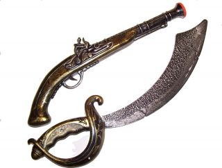 New Pirate Flintlock Pistol Gun Musket Rifle Sword Cutlass Toy Costume