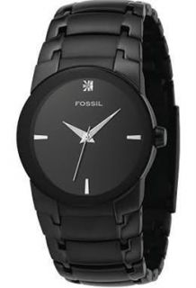 new fossil mens black ip stainless steel dress watch style fs4279