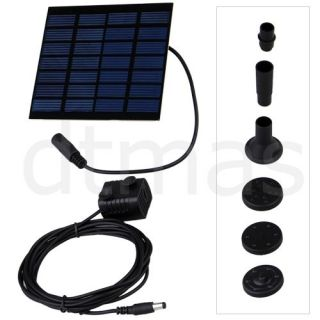 Solar Power Garden Fountain Pond Pool Water Pump Kit