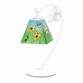 New Flowery Daisy Bees Candle Lamp Metal Glass Soft Lighting Desk