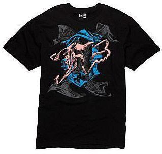 Fox Racing Battle Royal T Shirt Tee Black Blue Large LG