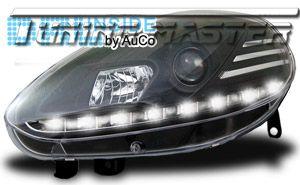 Dayline DRL LED Luci Diurne Fiat Punto EVO 09 11 Neri CE87