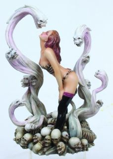 Demon Scream Vixen Skull Fantasy Statue