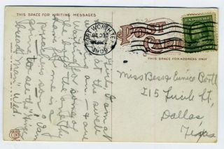 mailed from fort worth texas in 1909 city hall in fort worth texas