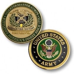 US Army Fort Lee Quartermaster Corps Challenge Coin