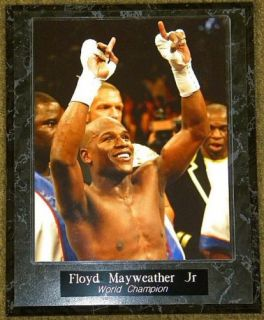 Floyd MAYWEATHER Jr World Champion 10 5x13 Plaque
