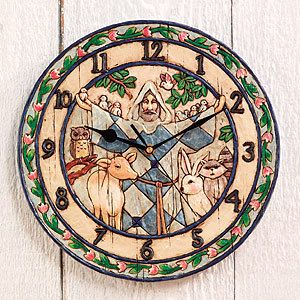 Jim Shore Heartwood Creek St Francis 12 Wall Clock 4005397 Enesco New
