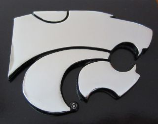 Kansas State University KSU WILDCATS CHROME METAL AUTO EMBLEM car