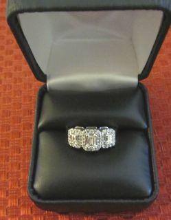 Gorgeous 14kt White Gold 3 Stone Diamond Ring