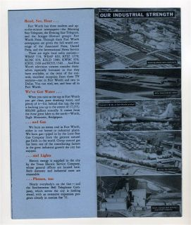 Why People Enjoy Living in Fort Worth Texas Booklet 1951