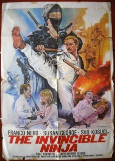 The Invincible Ninja Franco Nero Lebanese 40x27 Movie Poster 70s