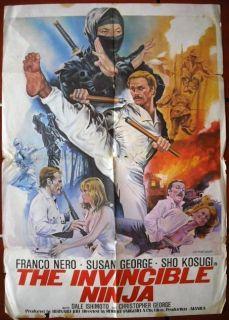 The Invincible Ninja Franco Nero Lebanese 40x27 Movie Poster 70s