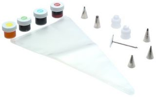 Wilton Basic Cake Decorating Set Food Coloring Frosting Icing Tips