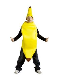 Childs Banana Costume Halloween Fruit Suit Food Kids Boys Girls