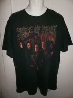 Vtg Cradle of Filth Shirt Death Metal Black Tour Concert Mens Sz XL